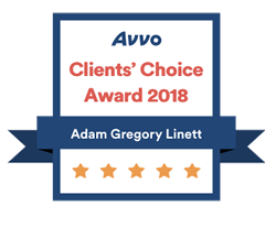 Adam Linett Avvo Rating Client's Choice Award